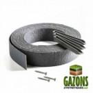 Kit - Bordure de Jardin PVC Gris ROULEAU 10m - PIQUETS - VIS